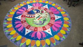 Rangoli: Art That Binds Launch</br><strong>Lansiad y Prosiect</strong>
